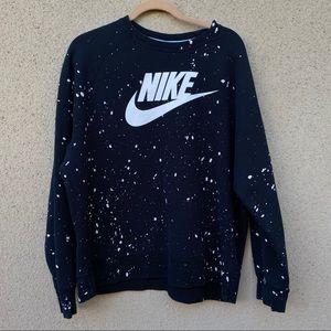 New Nike paint splatter sweatshirt XXL black